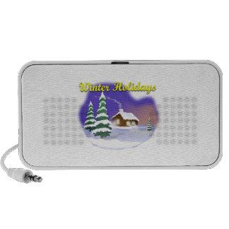 Winter Holidays Notebook Speaker