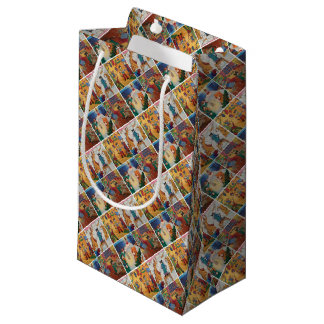 Winter Holidays Wrapping Paper Small Gift Bag