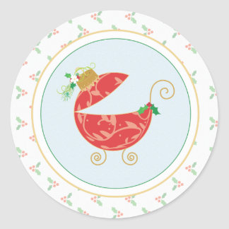 Winter Holly Envelope Seal or Favor Sticker