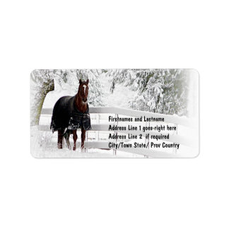 Winter Horse Address Label