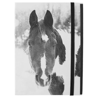 Winter Horse B&W iPad PRO Case