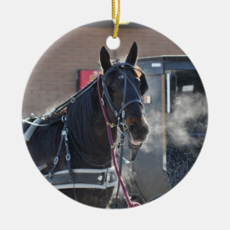 Winter Horse Hitch Christmas Ornament