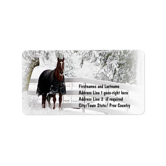 Winter Horse Label