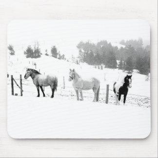 Winter Horses Mouse Mat