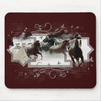 Winter Horses Mousepad