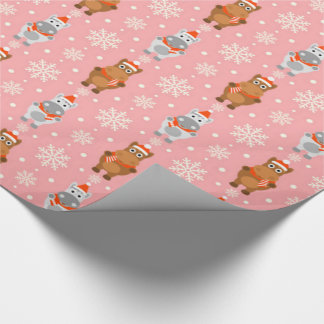 Winter Horses Wrapping Paper