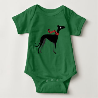Winter Hound Baby Bodysuit