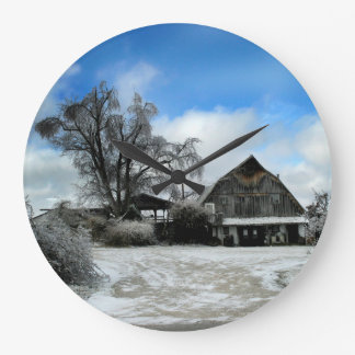 Winter Ice Storm Clock