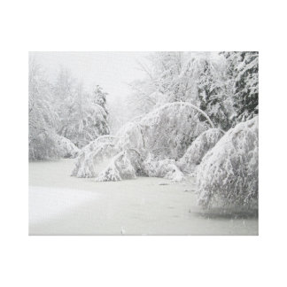 Winter Ice Storm Forest Canvas Print