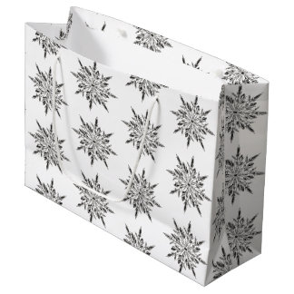 Winter Icy Snowflakes Large Gift Bag