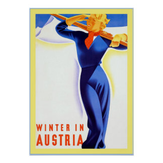 Winter In Austria ~Vintage Travel Poster