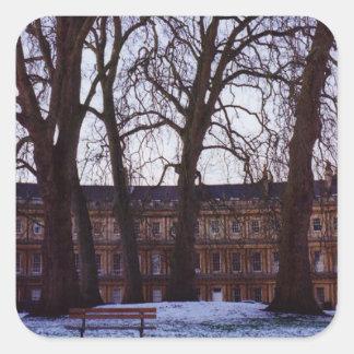 Winter in Bath Square Sticker