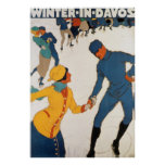 Winter In Davos Poster