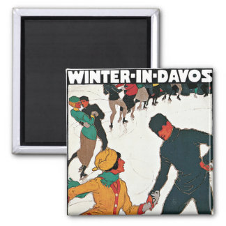 Winter in Davos Square Magnet