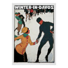 Winter in Davos Vintage Travel Poster