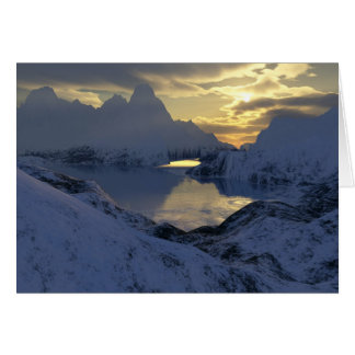 winter in fractal land greeting card