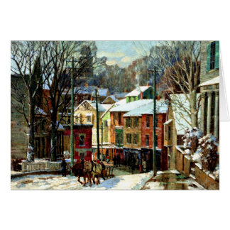 Winter in Gloucester, Massachusetts Card