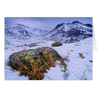 Winter in Great Langdale, The Lake District Greeting Card