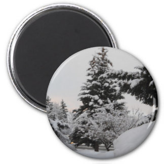 Winter in Idaho 6 Cm Round Magnet