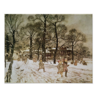 Winter in Kensington Gardens Poster