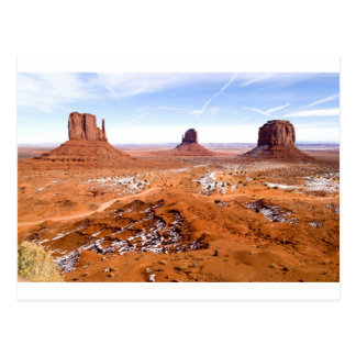 Winter in Monument Valley Post Card