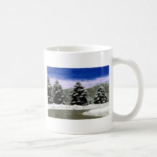 Winter in New England Basic White Mug