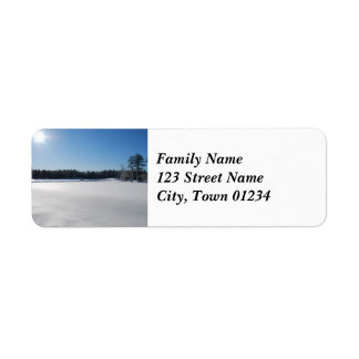 Winter in New England Return Address Label