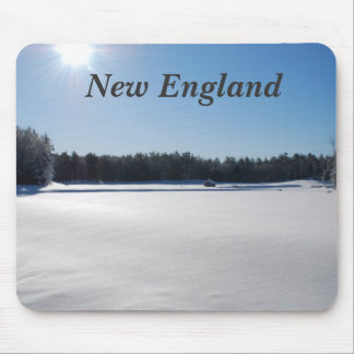 Winter in New England Mouse Pads