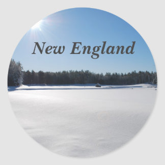 Winter in New England Round Stickers