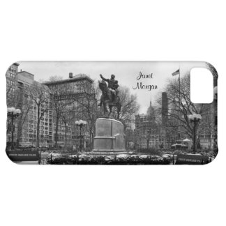 Winter in NYC's Union Square 001 Black White iPhone 5C Cover