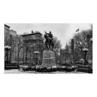 Winter in NYC's Union Square 001 Black White Pack Of Standard Business Cards