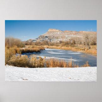 Winter in Palisade, Colorado Poster