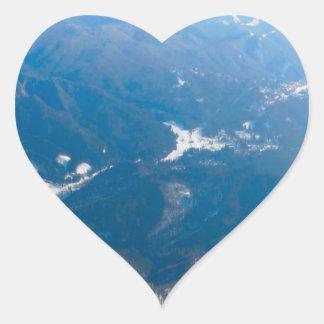 Winter  in Piana Brasov, Romania Heart Sticker
