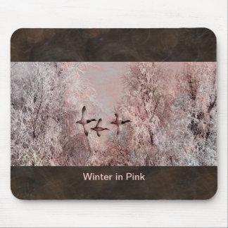 Winter in Pink Art Mousepad