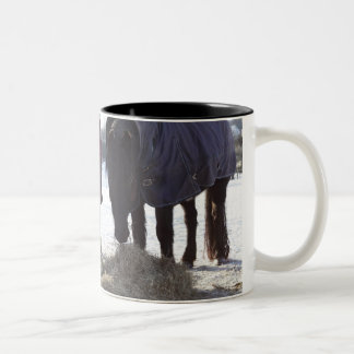 Winter in Rural Hertfordshire, England Two-Tone Coffee Mug
