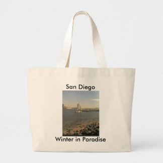 Winter in San Diego Large Tote Bag