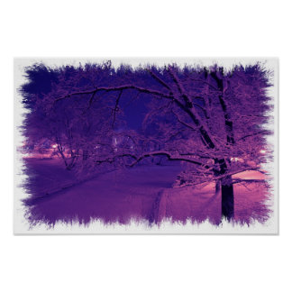 Winter in sepia tones poster