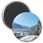 Winter in St. Moritz Fridge Magnets