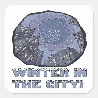 Winter In The City 2 Square Sticker