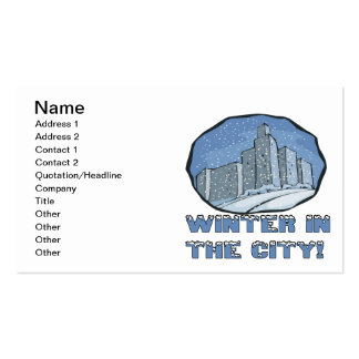 Winter In The City Pack Of Standard Business Cards