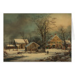 Winter In The Country: A Cold Morning Card