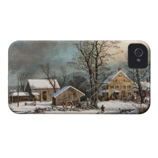 Winter in the Country, A cold  Morning iPhone 4 Cover