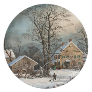 Winter in the Country, A cold  Morning Party Plate
