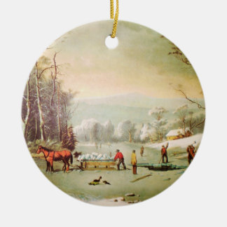 Winter in the Country Christmas Ornament