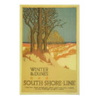 Winter in the Dunes Poster
