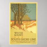 Winter in the Dunes Poster