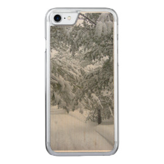Winter in the Forest Carved iPhone 8/7 Case