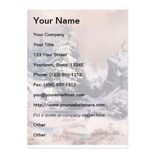 Winter in the Rockies - 1867 Business Cards