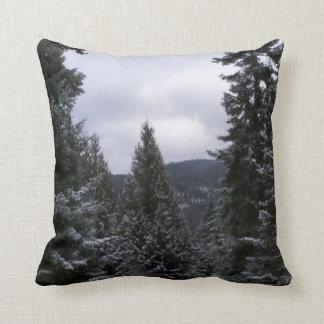 Winter in the Rockies Cushion