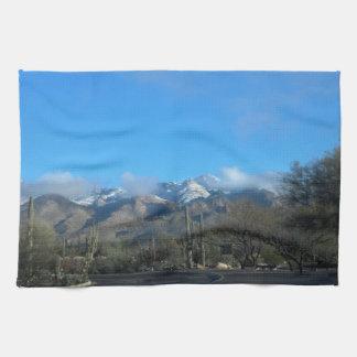 Winter in Tucson Tea Towel